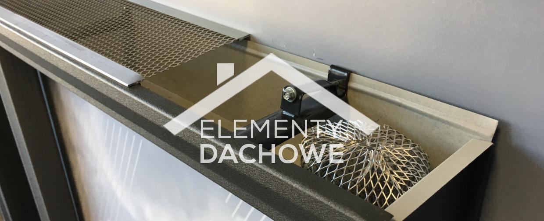 Metalowe aluminiowe siatki na rynny